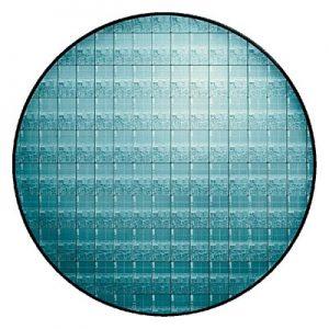 Photo of Intel wafer
