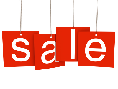 Sale letter tags