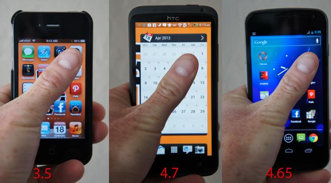 Razlika uporabnosti pri različnih diagonalah zaslona telefona (če nisi Adi Smolar, seveda)