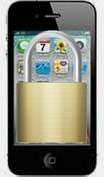Image of iPhone with padlock