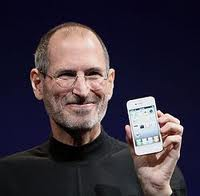 Photo of Steve Jobs with iPhone