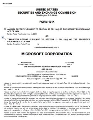 Microsoft 10-K