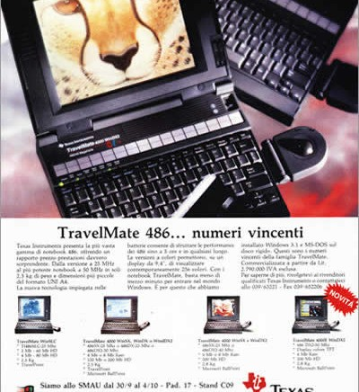 TI Travelmate ad