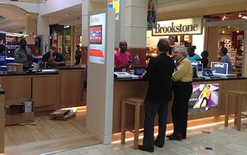 Photo of popup Microsoft store