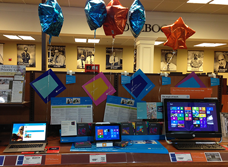 Win 8 display at Microcenter
