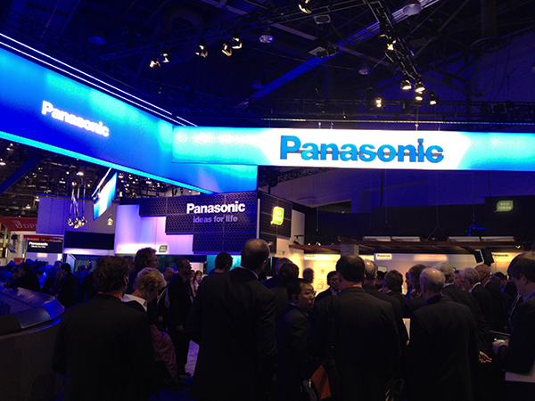 Photo of Panasonic CES booth (Wildstrom)