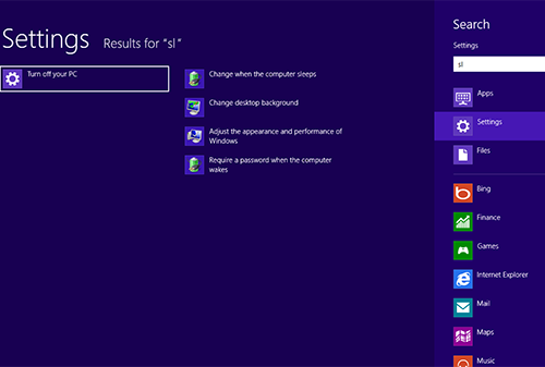Windows 8 screen shot