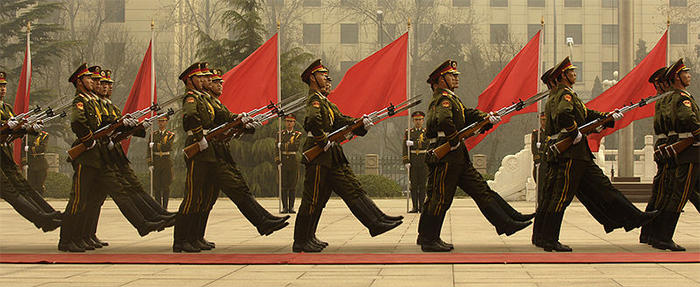 Photo pf People's Liberation Army parade (Wikimedia Commons)