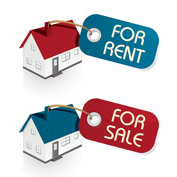 For Rent and For Sale (© Kristina Afanasyeva - Fotolia.com)