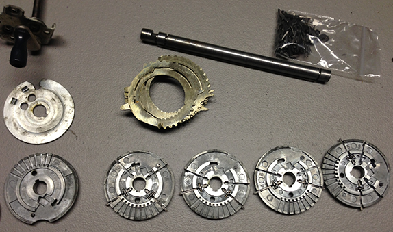 Disassembled Odhner 227 (Photo: Stephen Wildstrom)