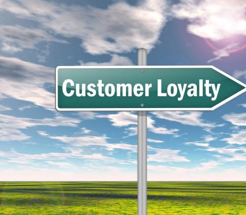 "Signpost ""Customer Loyalty"""