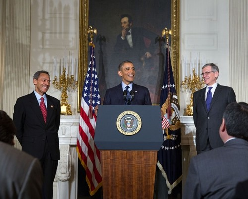 President Obama announce Wheeler nomination (White House photo)