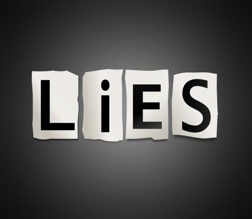 Lies concept.