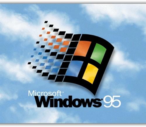 Windows 95 splash screen