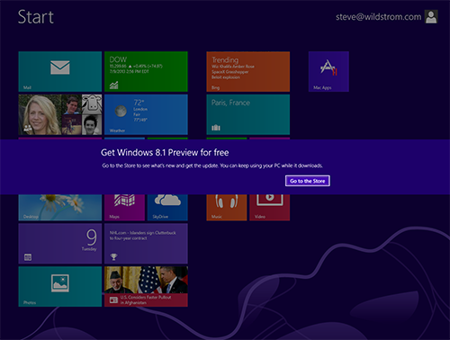 Windows app store screenshot