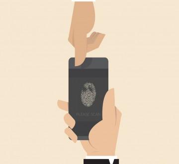 Smart phone with Finger printer scanner app