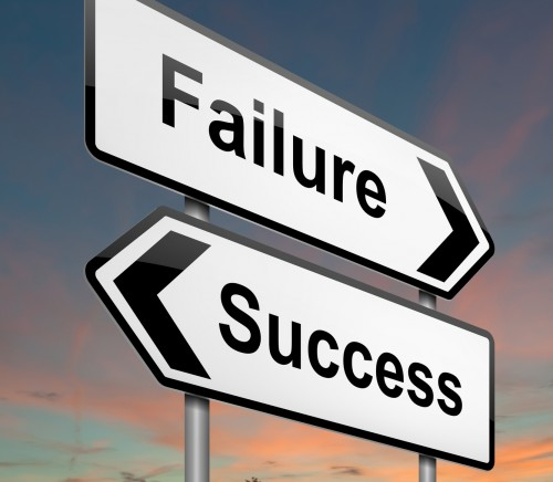 Failure or success concept.