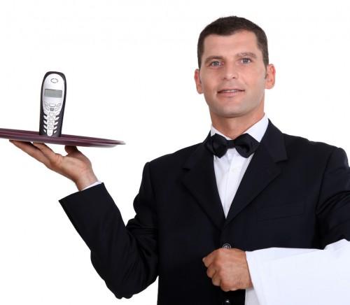 Waitor serving telephone