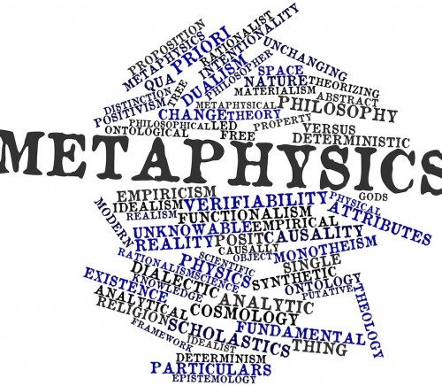 Word cloud for Metaphysics