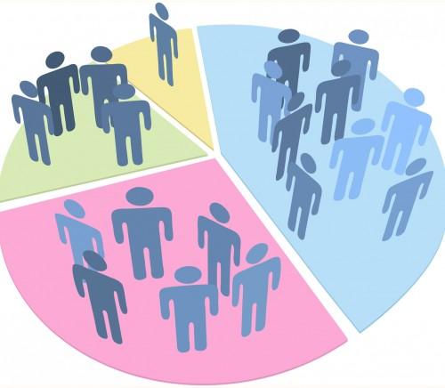 People statistics population data pie chart