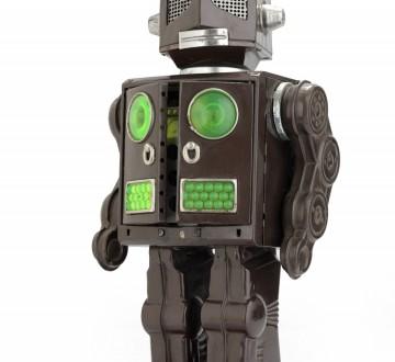 retro tin robot toy