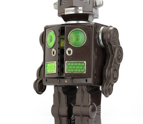 retro tin robot toy