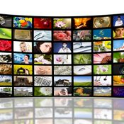 Photo of television displays © Artur Marciniec - Fotolia.com