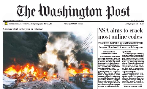 Washington Post, 1/3/2014