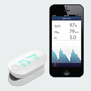 Verizon wireless pulse oximeter
