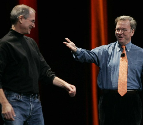 apple google steve jobs eric schmidt