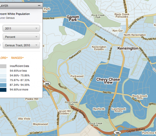 Kensington, MD, ethnicity map
