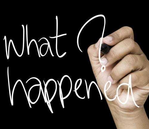 What happened hand writing on white marker
