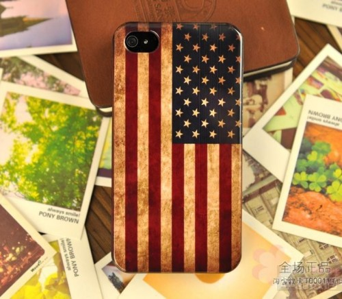 american flag on the iPhone