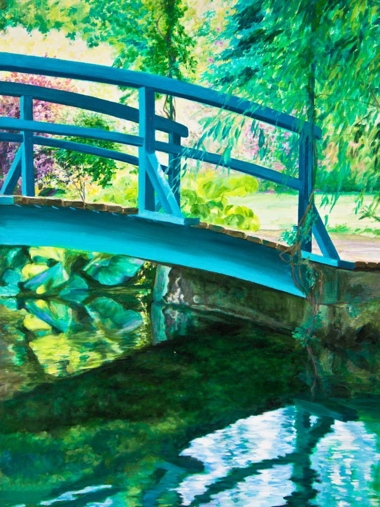 Giverny Bridge on the Water Lily Pond