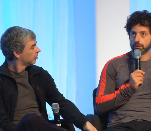 Sergey Brin is speaking