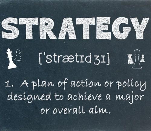 STRATEGY Definition on Blackboard (business marketing planning)