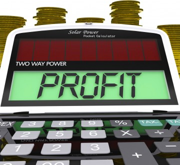 Profit Calculator Means Surplus Income And Revenue