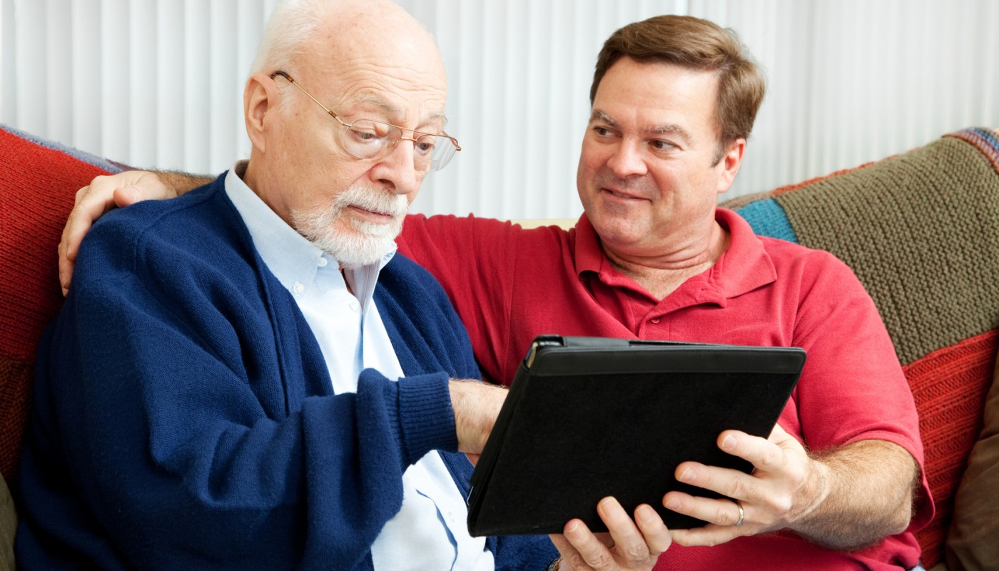 Teaching Dad to Use Tablet PC