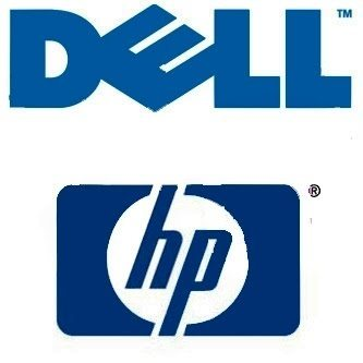 Dell and HP logos