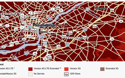 Verizon Turnpike map