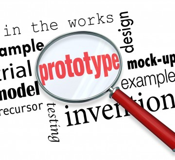 Prototype Mock-Up Product Sample Magnifying Glass Words