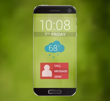 The future of technology cell phone vector