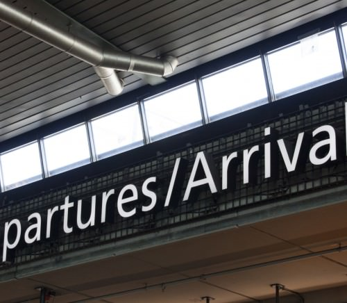 Amsterdam,netherlands-may 12, 2015: Departure arrivel sign at schiphol airport amsterdam leading people to their desitination