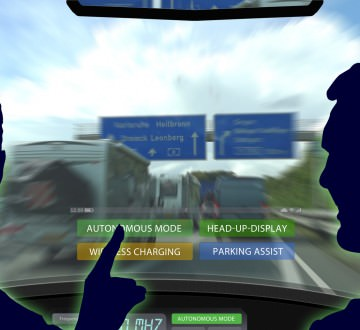 adi4 AutonomousDrivingIllustration - autonomous driving with head-up-display - 16to9 g3796