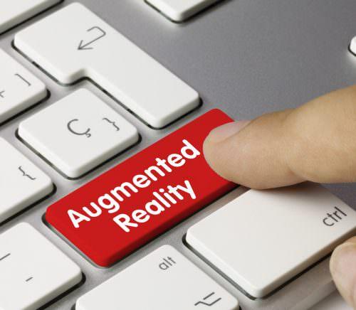 Augmented reality. Keyboard