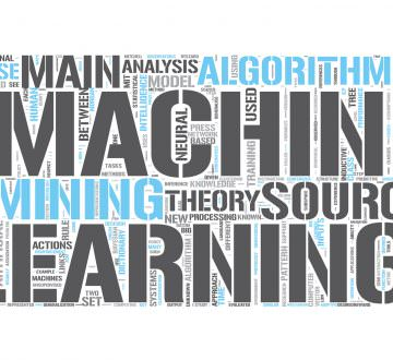 Machine learning Word Cloud Concept