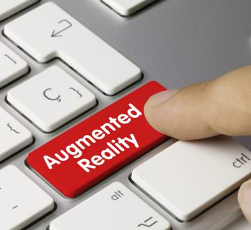 Augmented reality. Keyboard