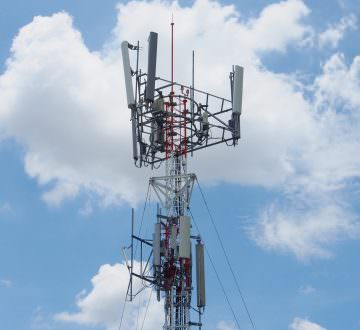 Cellular mobile Phone Tower Against, Telecommunication
